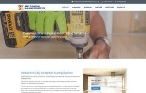 Gary Thompson Building Services Website